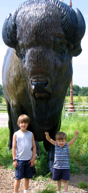 N with his big brother days after dx on our Great Plains Trip